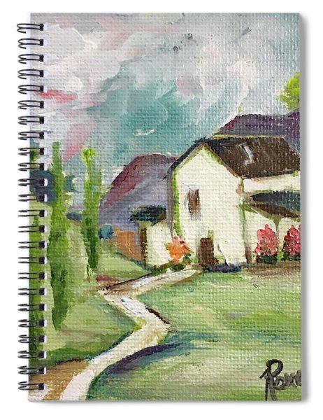 English Cottage Landscape Spiral Notebook