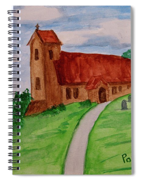 English Country Church Spiral Notebook