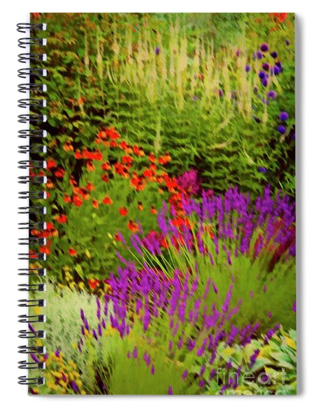 English Flower Border Art Spiral Notebook