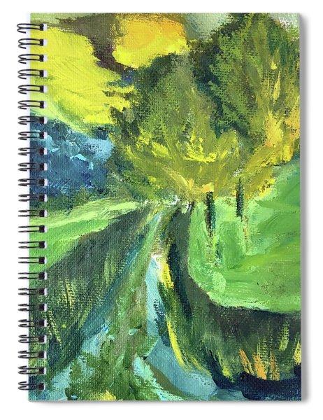 English Sunset Landscape Spiral Notebook