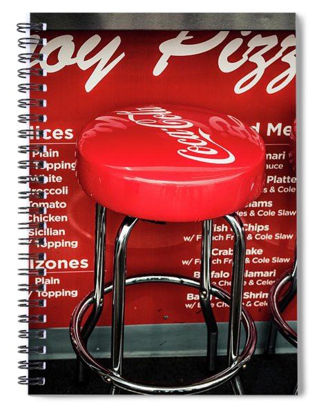 Enjoy Pizza And A Coke Spiral Notebook