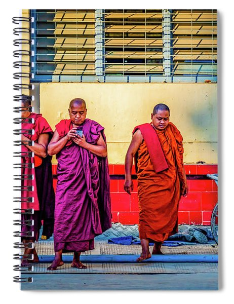 Enlightenment By Cell Phone Spiral Notebook