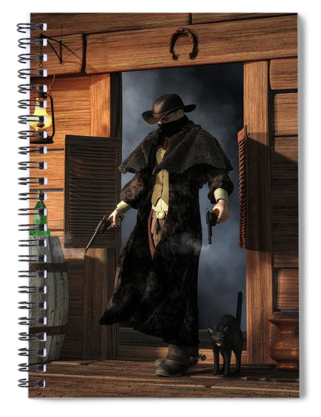 Enter The Outlaw Spiral Notebook
