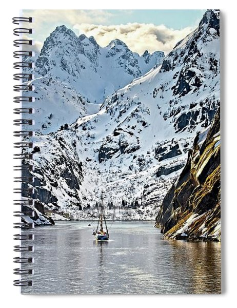 Entering The Trollfjord, Norway Spiral Notebook