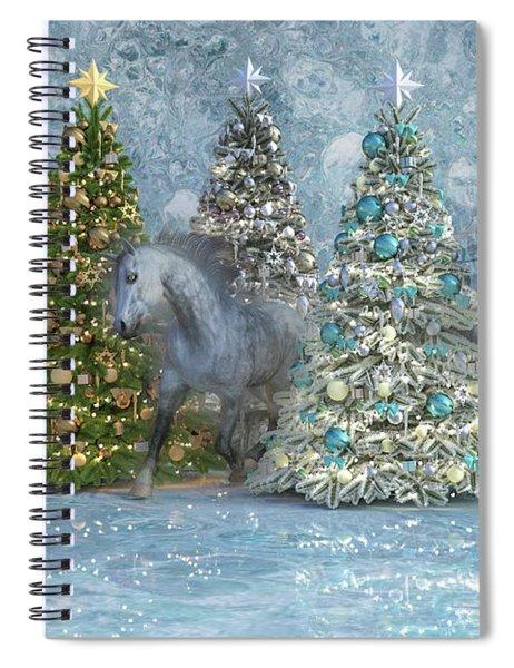 Equine Holiday Spirits Spiral Notebook