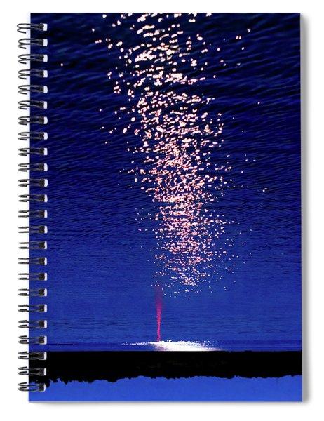 Patriotic Eruption Spiral Notebook