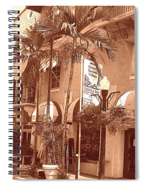 Espanola Way In Miami South Beach Spiral Notebook