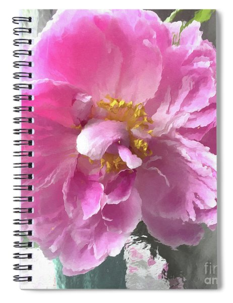 Ethereal Pink Impressionistic Watercolor Peony - Pink Watercolor Impressionistic Pink Peonies Floral Spiral Notebook