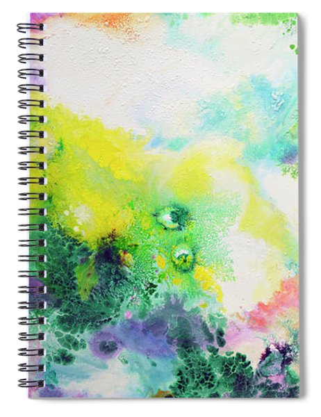 Ethereal Resonance, Fluid Pour Painting Spiral Notebook