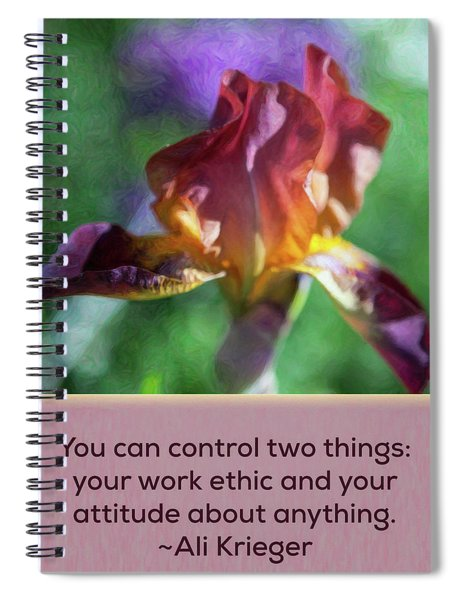 Ethics And Attitude - Nature Art By Omaste Witkowski Spiral Notebook