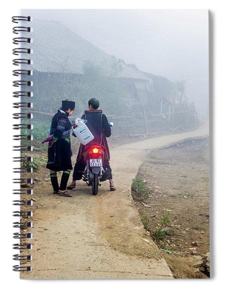 Ethnic Minority On The Road In Sapa, Vietnam Spiral Notebook