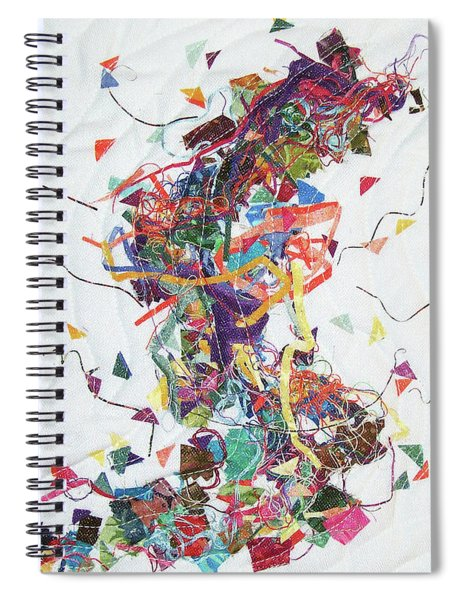 Etude In Fabric Spiral Notebook