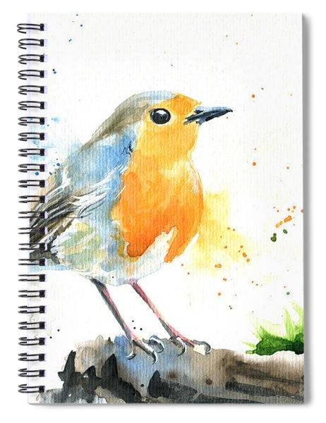 European Robin Spiral Notebook
