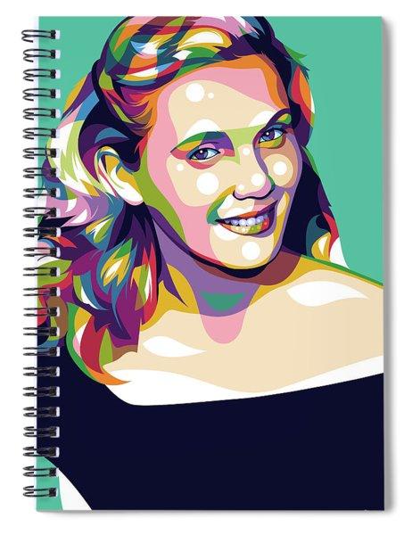 Eva Marie Saint Spiral Notebook