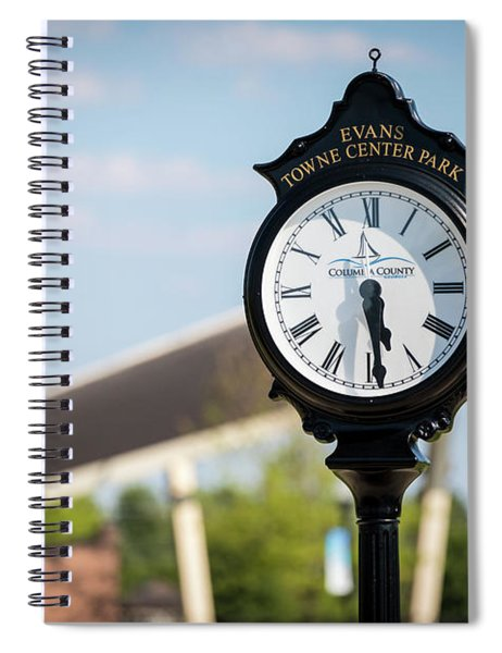 Evans Towne Center Park Clock - Evans Ga Spiral Notebook