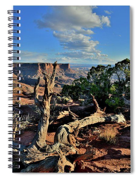 Evening At Green River Overlook In Canyonlands Spiral Notebook