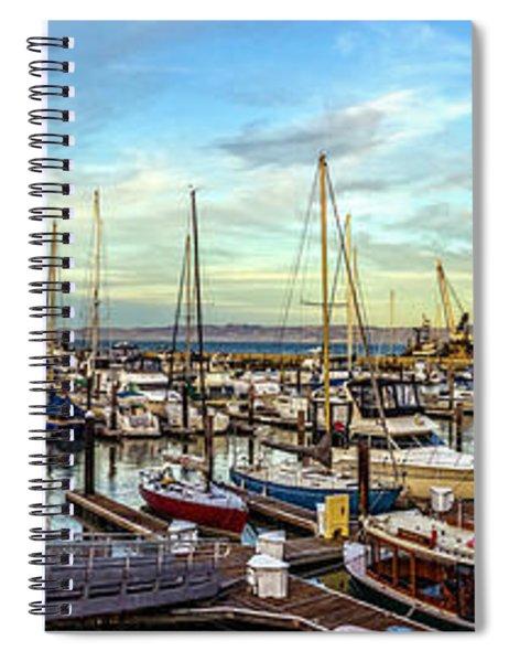 Evening At Pier 39 Marina Panorama Spiral Notebook