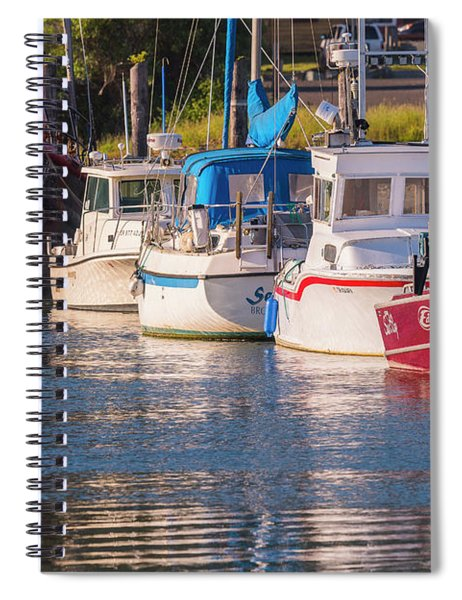 Evening At The Harbor Spiral Notebook