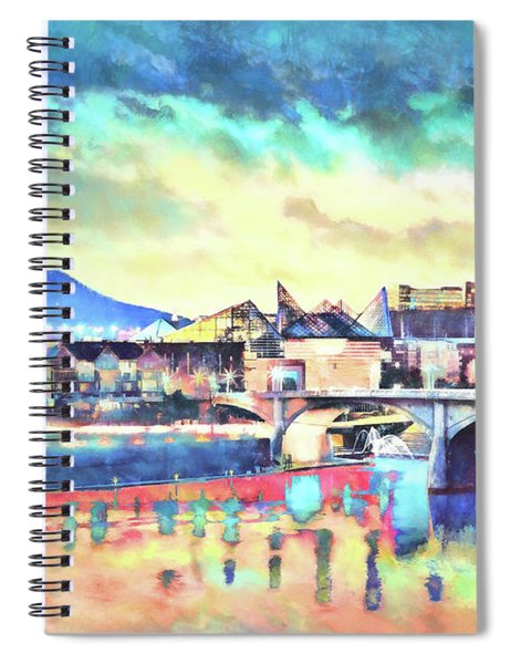 Evening Glow After The Storm Spiral Notebook