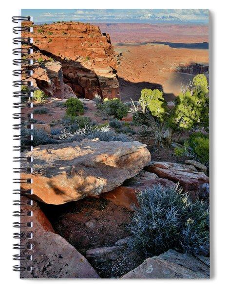 Evening Light At Grand View Point Spiral Notebook