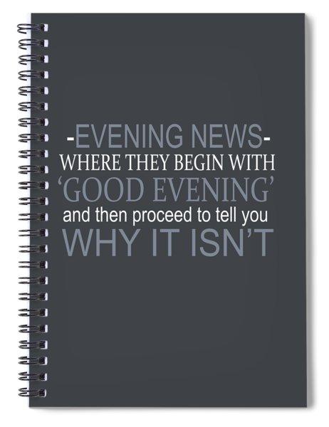Evening News Spiral Notebook
