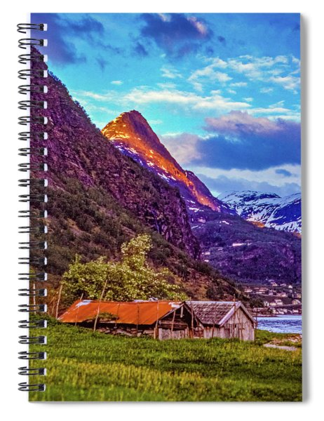 Evening On The Fjord  Spiral Notebook