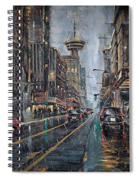 Evening Traffic II Spiral Notebook