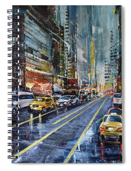 Evening Traffic Spiral Notebook