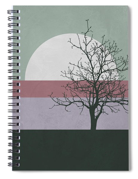 Evening Tree Spiral Notebook