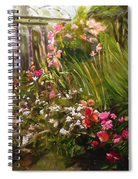 Columns At Evergreen Arboretum Spiral Notebook