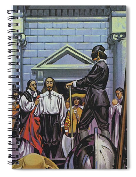 Execution Of King Charles I Spiral Notebook