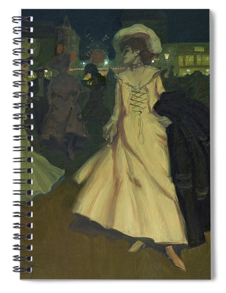 Exit From The Moulin Rouge, 1902 Spiral Notebook
