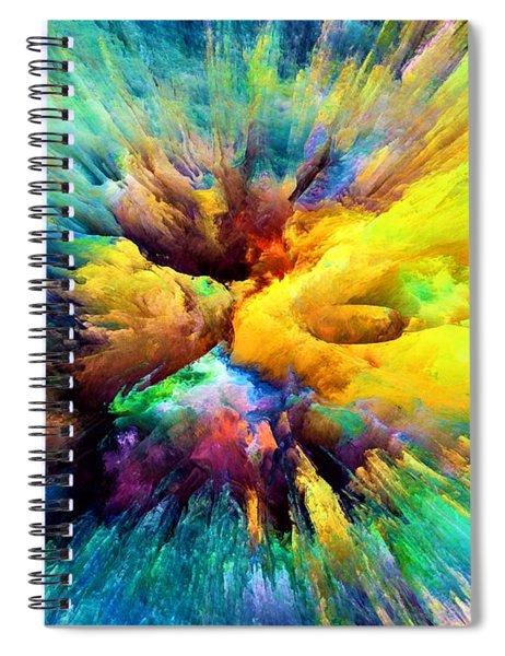 Explosion Spiral Notebook