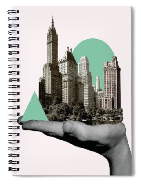 Exquisite Buildings On Palm Spiral Notebook