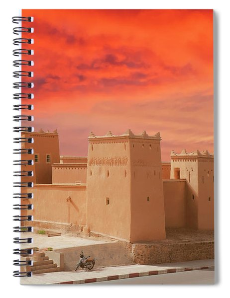 Exterior Buildings Of Kasbah Taourirt Spiral Notebook