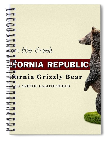 Extinct California Grizzly Bear Spiral Notebook