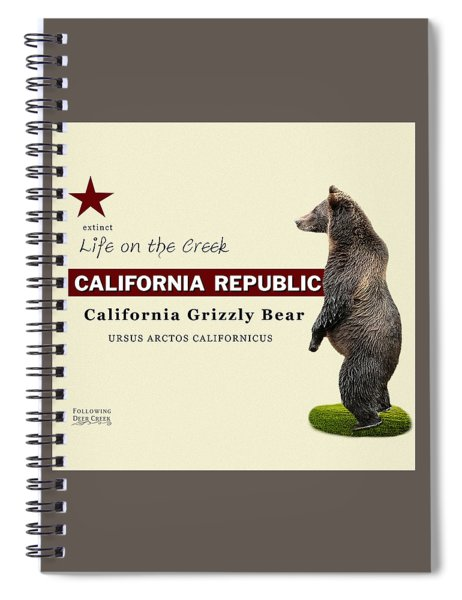 Extinct California Grizzly Bear Spiral Notebook