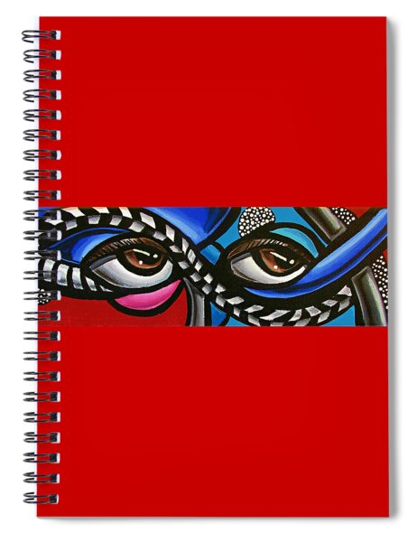Eye Art Painting Abstract Chromatic Painting Electric Energy Artwork Spiral Notebook