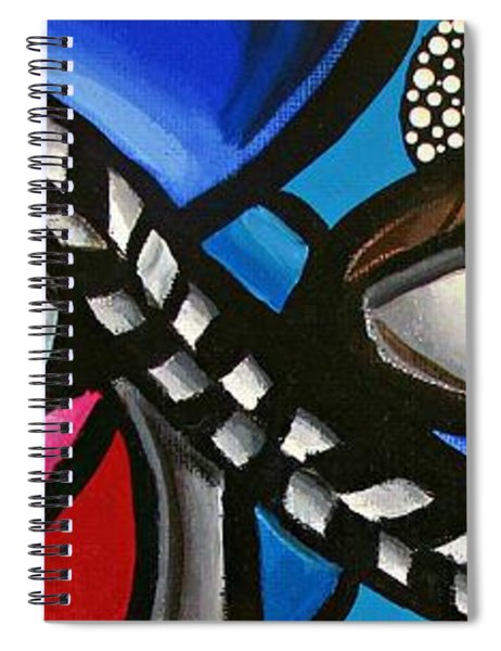 Eye Art Painting Abstract Chromatic Painting Electric Energy Artwork Spiral Notebook by Ai P Nilson