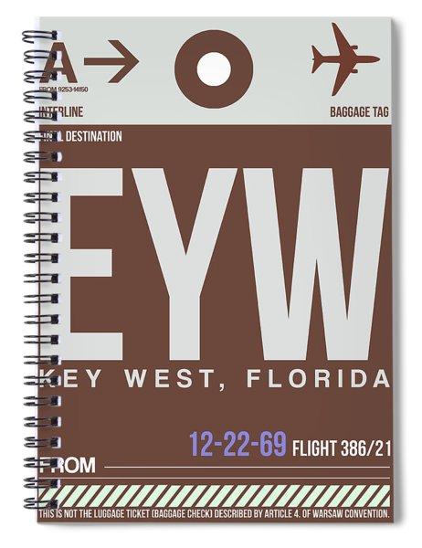 Eyw Key West Luggage Tag II Spiral Notebook