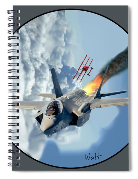F-35 Vs The Red Baron Spiral Notebook