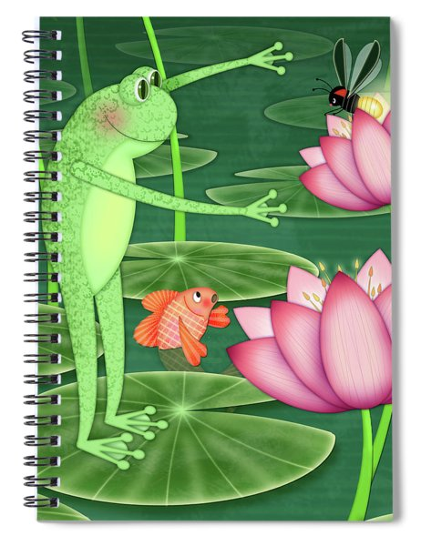 F Is For Frog Spiral Notebook