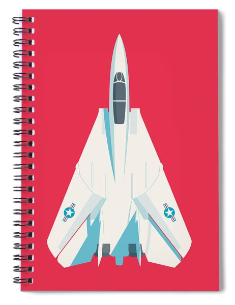 F14 Tomcat Fighter Jet Aircraft - Crimson Spiral Notebook