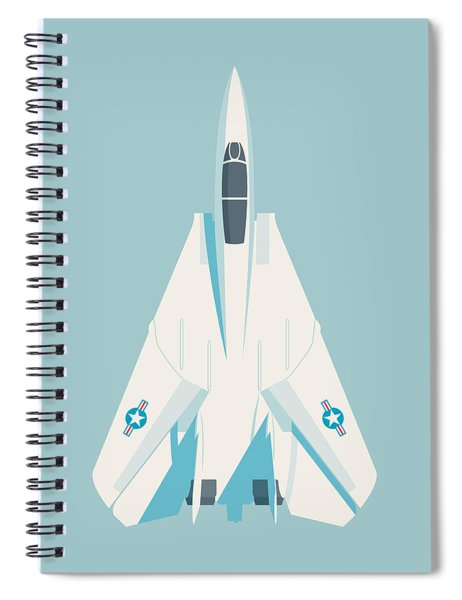 F14 Tomcat Fighter Jet Aircraft - Sky Spiral Notebook