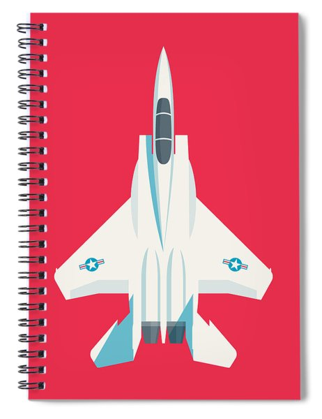 F15 Eagle Fighter Jet Aircraft - Crimson Spiral Notebook