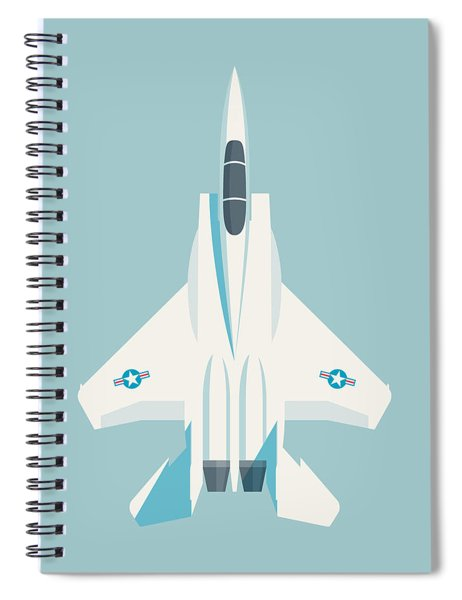 F15 Eagle Fighter Jet Aircraft - Sky Spiral Notebook