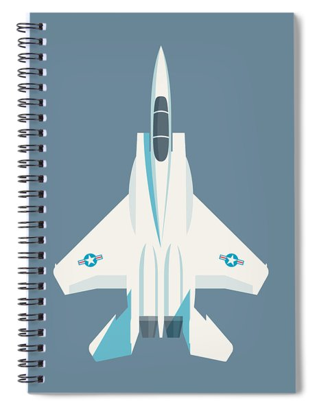 F15 Eagle Fighter Jet Aircraft - Slate Spiral Notebook