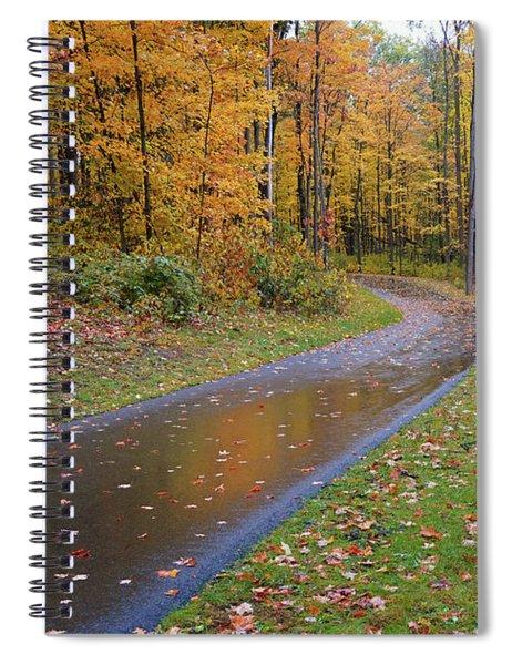 Fabulous Fall Rain Spiral Notebook