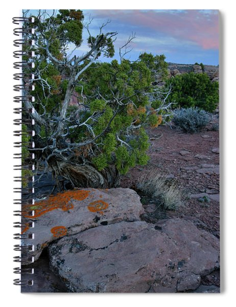 Fading Color At Green River Overlook In Canyonlands Spiral Notebook