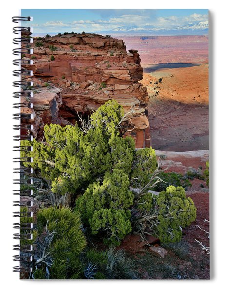 Fading Light At Grand View Point Spiral Notebook